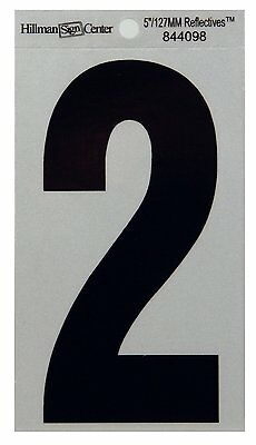 The Hillman Group 844098 5-1/4-Inch Reflective Number 2 - Lot of 6