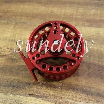 NEW! Hi-Q Red Aluminum Fly Fishing Reel 5/6 Left and Right Hand Retrieve 85mm
