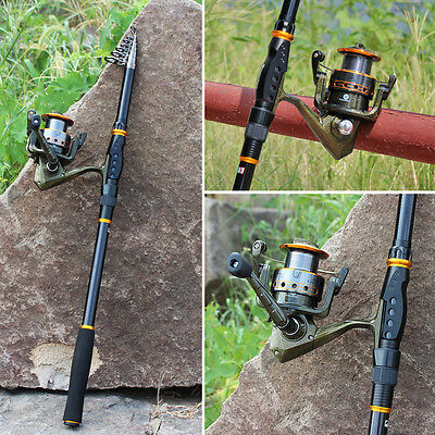 Spinning Fishing Rod and Reel Combo Saltwater Freshwater Bass Pole Fishing Kit