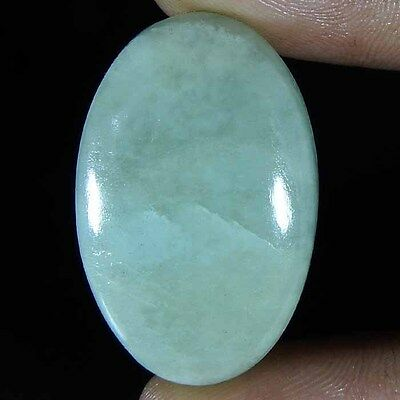 38.35--CTs 100% NATURAL SANTA MARIA AQUAMARINE QUALITY OVAL CABOCHON GEMSTONE