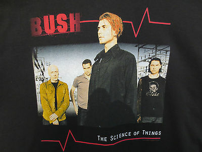 Bush Xl Shirt The Science Of Things English Rock & Roll Band Sixteen Stone State