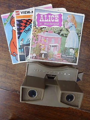 Vintage Gaf Viewmaster & 3 Picture Reels Partridge Family The Aristo-Cats Alice