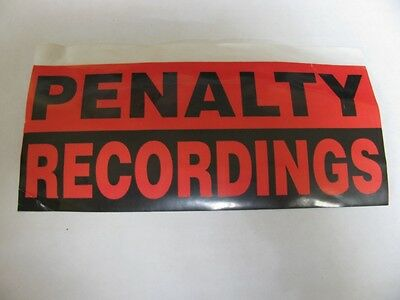 Penalty Recordings - Ultra Rare (Promo Only) 1995 Orig. Sticker!!