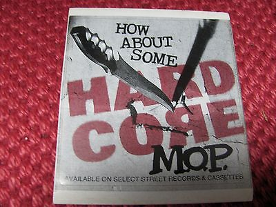 M.O.P. How About Some HARDCORE (PROMO ONLY) 1995 ORIG. STICKER!!