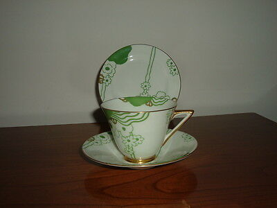 Rare Royal Doulton Art Deco 1930's 'glamis' Cup & Saucer + Small- Plate Ex.con.