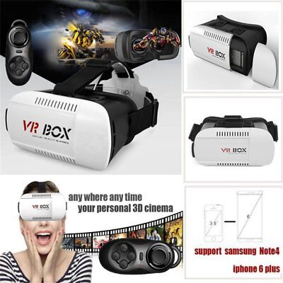 3D Bluetooth VR BOX Virtual Reality Remote Control Glasses For Iphones BY
