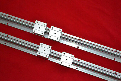 2 linear bearing slide unit SBR20-1400mm rails+4 blocks for CNC