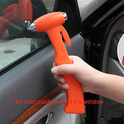 LIFE-SAVING EMERGENCY HAMMER Window Glass Breaker Seat Belt Cutter Safety Tools