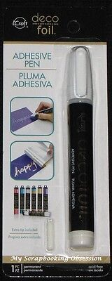 iCRAFT 'DECO FOIL - ADHESIVE PEN' + Extra Tip (Use with Deco Foil Sheets)