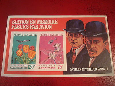 Gabon - Flowers By Plane - Minisheet - Unmounted Mint - Ex Condition