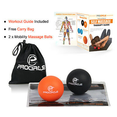 PROCIRCLE Lacrosse Massage Ball Mobility Myofascial Trigger Point Pain Release