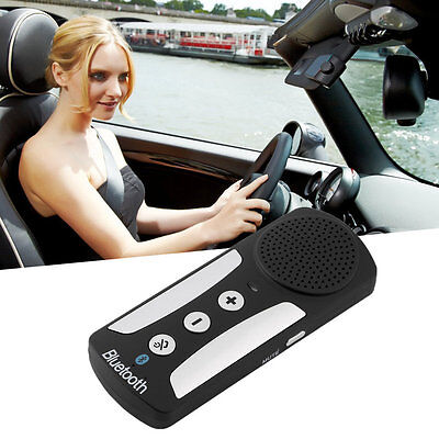 New Wireless Bluetooth In-car Hands Free Car Kit Speakerphone Speaker OG