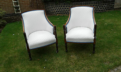 Pair of Victorian/Edwardian tub chairs