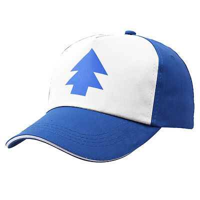 New Curved Bill 'BLUE PINE TREE' Hat Dipper Gravity Falls Cartoon Cap Trucker