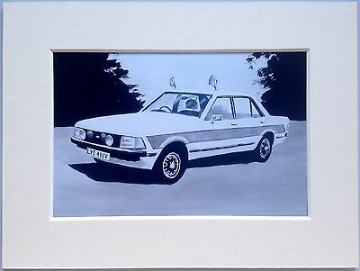 """Ford Granada mk2Cop Car Mounted Photo Print 8""""x6"""" Limited Edition Ready To Frame"""
