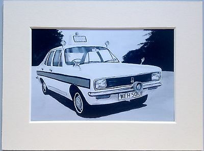 """Hillman Avenger Cop Car Mounted Photo Print 8""""x6"""" Limited Edition Ready To Frame"""