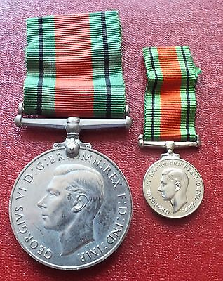 UK British WWII The Defence Medal + miniature