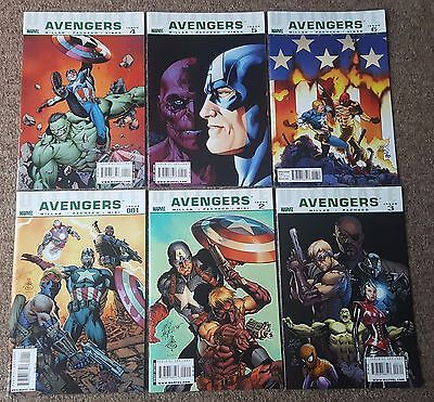 Ultimate Avengers #1 2 3 4 5 and 6 Complete Set - Marvel Comics