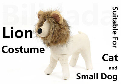 Unique Cute Lion Mane Wig Head Warm Hat For Cat Small Dog With Ears Party