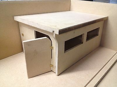 1:18 1-18 1/18 118 Small Scale Mdf Booth Internal Garage Shop Bay With Twin Door