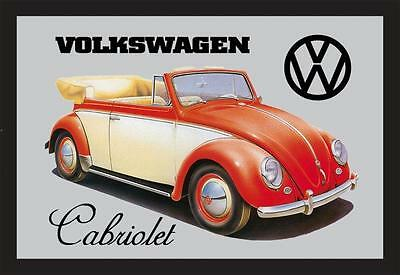 VW Volkswagen Beetle Cabriolet Nostalgia Bar Mirror 8 11/16x12 5/8in