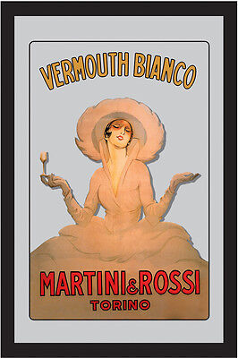 Martini & Rossi Torino Lady Nostalgia Bar Mirror 8 11/16x12 5/8in