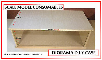1:18 1-18 1/18 118 Scale Mdf 3 Car Encapsulated Glass Front Diorama Base Case