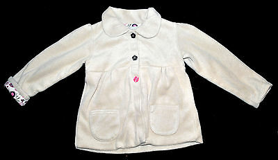 M&s Girl Fluffy Jacket Coat Girl Age 5-6 Years Height 116Cm