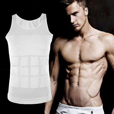 Men Body Slimming Tummy Shaper Belly Underwear shapewear Waist Girdle Shirt BY