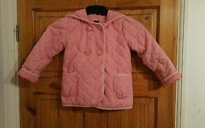 Baby Gap quilted Pink Hooded jacket aged 5 years