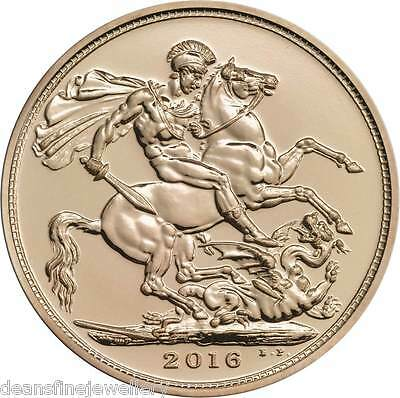 2016 Gold FULL Sovereign Queen Elizabeth II FIFTH PORTRAIT Global Shipping