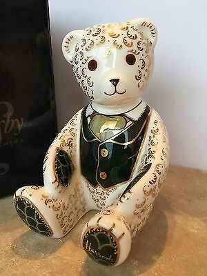 Royal Crown Derby Harrods Teddy Bear Paperweight. Limited Edition 1st Quality