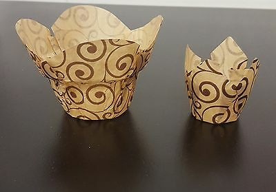 Boxes 4200 and 9000 Baking paper flowerpot and mini tulip muffin cases
