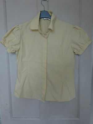 new yellow caldene show shirt ladies size 14 competition hunting showing