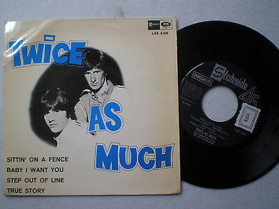 TWICE AS MUCH Step Out Of +3 SPAIN EP 1967 FY BAROQUE POP POPSIKE GEM