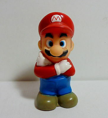 SUPER MARIO VTG 80's 4'' FIGURE WITH CHU-CHU SOUND SQUEEZE TOY SOFT PVC FIGURE