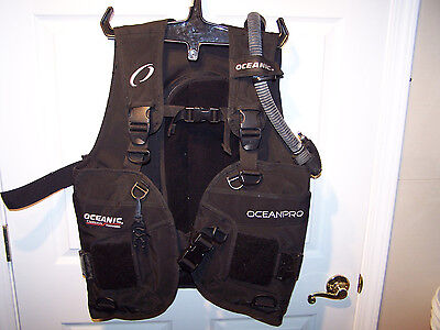 Oceanic Oceanpro Scuba BCD Buoyancy Compensator Diving Vest Good Used Condition