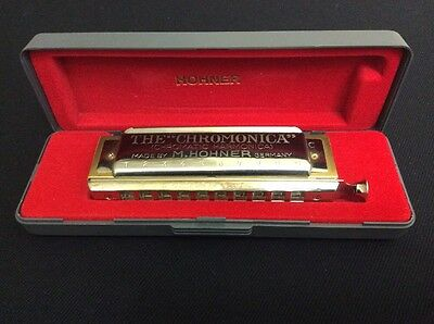 M HOHNER Germany CHOMONICA 260/40  HARMONICA In The Key Of C 10 Holes Hard Case