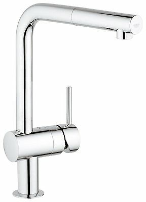 GROHE 32168000 Minta Kitchen Tap with Pull-Down Spray Head GROHE 32168