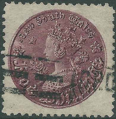 NSW 1860 COIN Issue 5/- Purple ACSC 24 cv$40 lovely fine used & elusive