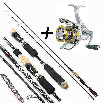 Konger finesse fishing set Troker Spin UL 6'-8' 0.28oz + Virago 910 FD 9BB 5.5:1