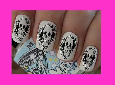 Nail Art Decals Skull Pirate Transfers Stickers Wraps Foils Manicure