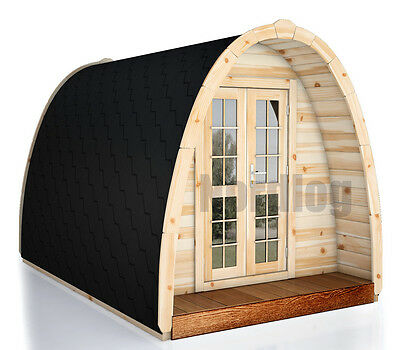 nordlog camping pod 2 4 x 3 5m haus campinghaus ferienhaus gartenhaus holz eur. Black Bedroom Furniture Sets. Home Design Ideas