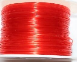 Consommable imprimante 3D - Filament 3,00 mm - Rouge Semi-Translucide (RED)