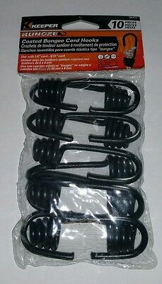 """Keeper Corp. Coated Bungee Cord Hooks Pack of 10 #06452 1/4"""" & 5/16 cord NEW"""