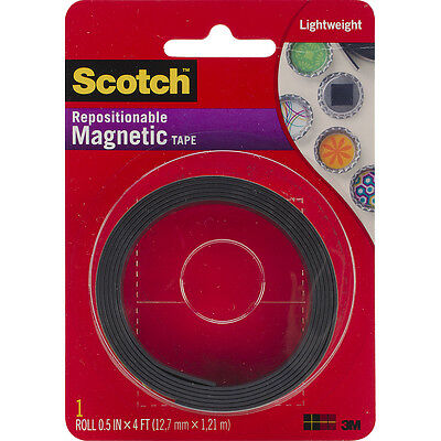 """Scotch Repositionable Magnetic Tape .5""""X4' MT004.5"""