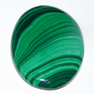 52.9Cts 100% Natural  33X35X4Mm Malachite Oval Cabochon Loose A++ Gemstone