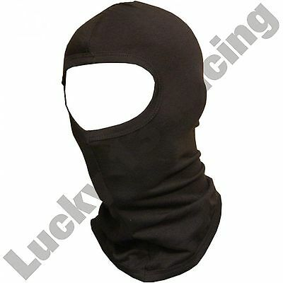 Black cotton balaclava motorcycle motorbike full face washable ski base layer