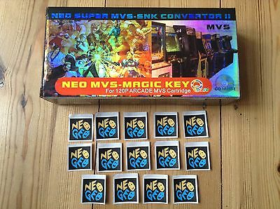 Empty Box Only - Neo Geo Magic Key Aes Mvs Converter New + 14 Stickers