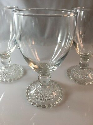 Vintage Crystal Boopie Stemware Clear Bubble (Several Available)